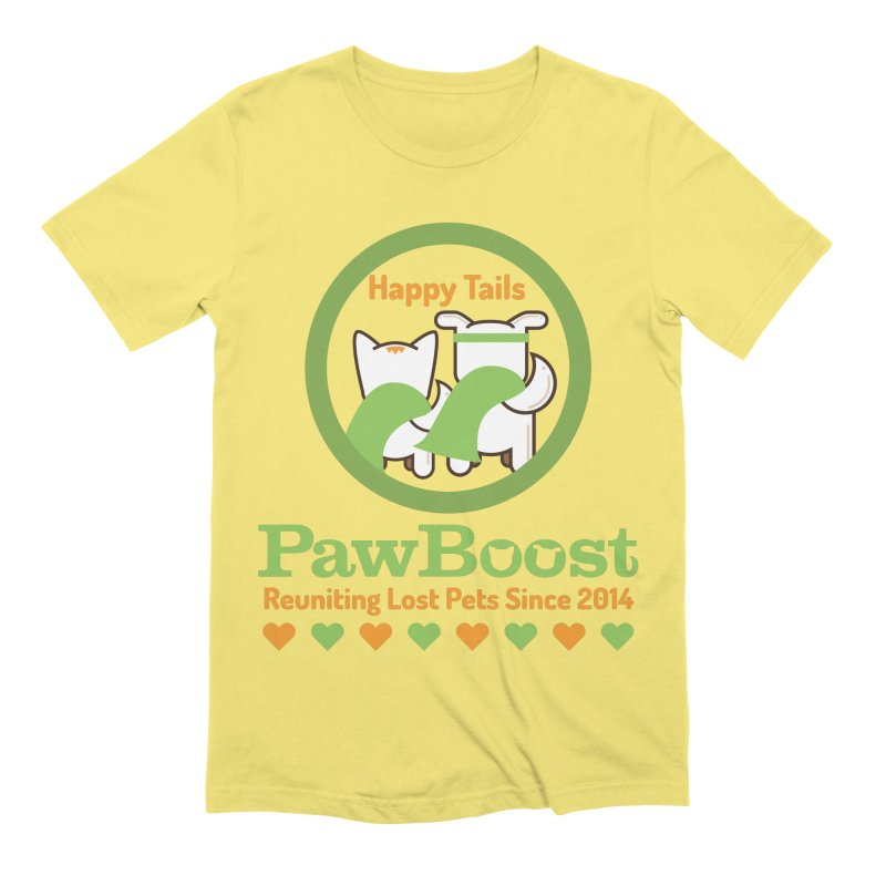Happy Tails Men's Extra Soft T-Shirt by PawBoost's Shop