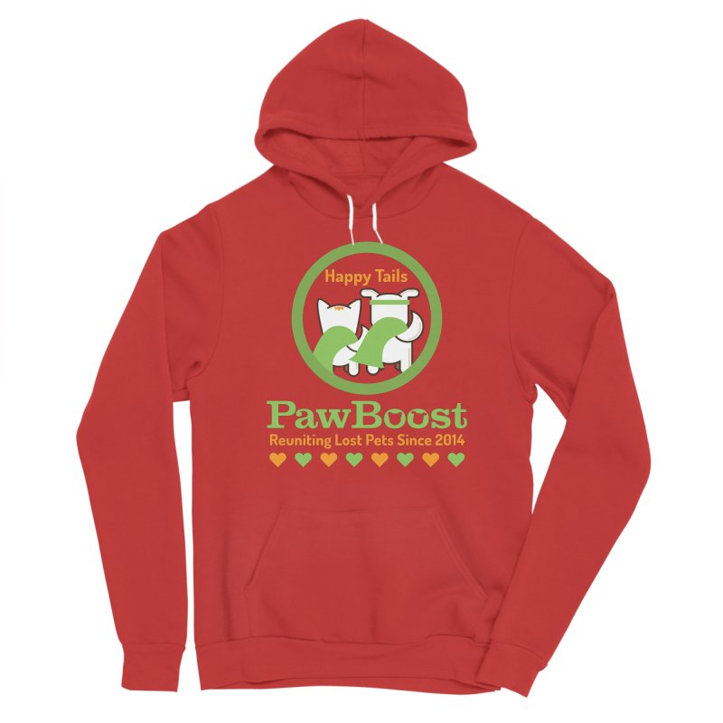 Happy Tails Men's Pullover Hoody by PawBoost's Shop