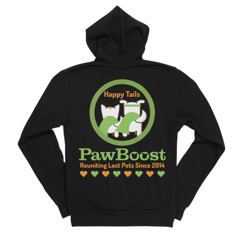 Happy Tails Women's Sponge Fleece Zip-Up Hoody by PawBoost's Shop