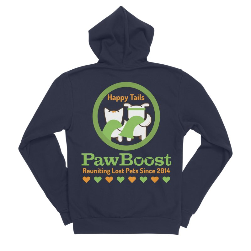 Happy Tails Women's Sponge Fleece Zip-Up Hoody by PawBoost's Shop