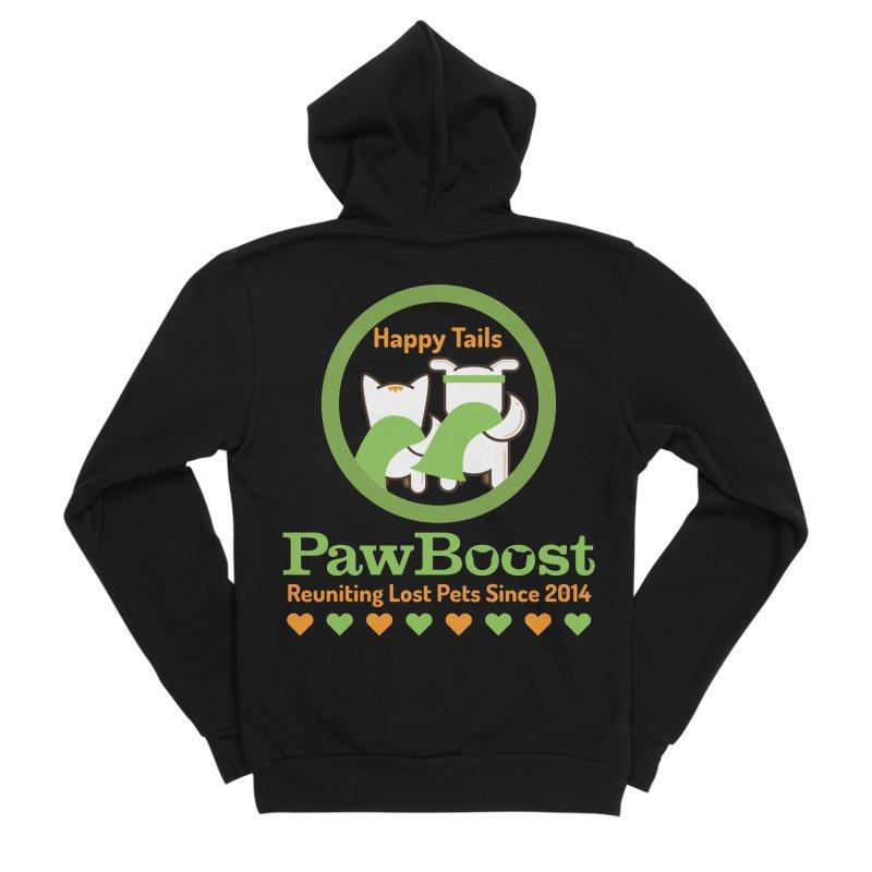 Happy Tails Men's Sponge Fleece Zip-Up Hoody by PawBoost's Shop