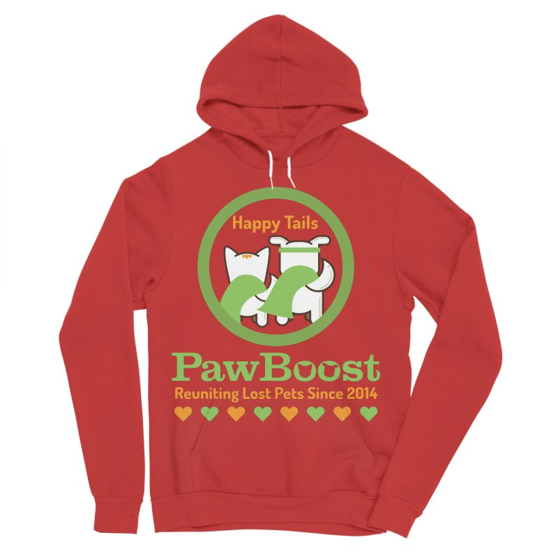 Happy Tails Women's Sponge Fleece Pullover Hoody by PawBoost's Shop