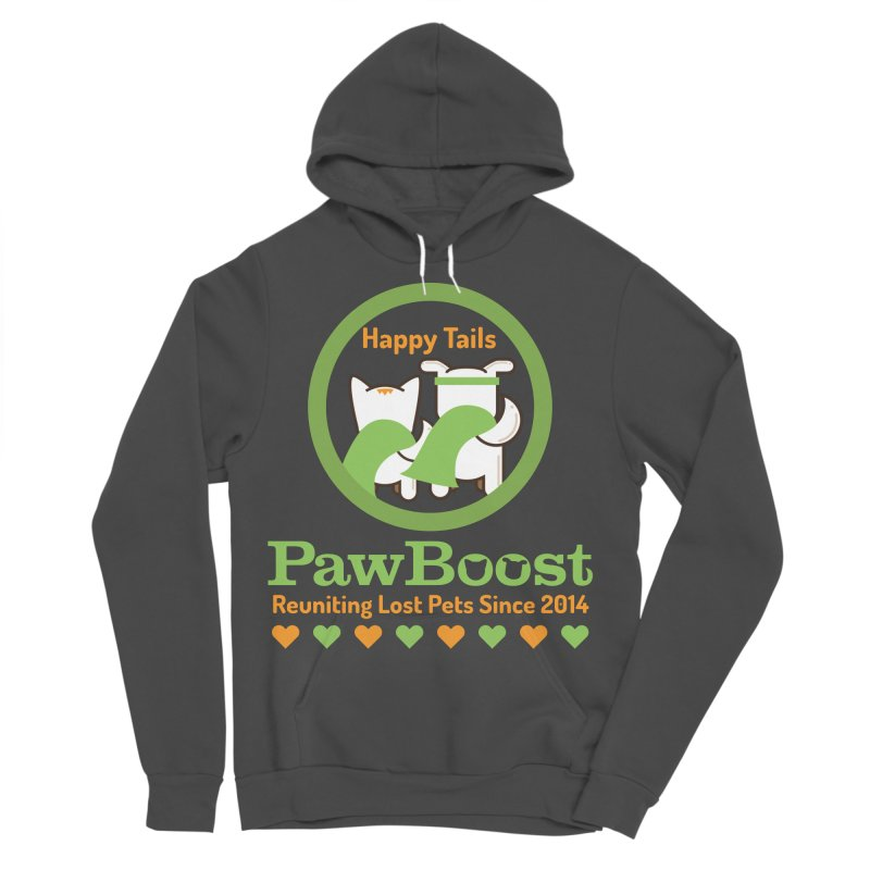 Happy Tails Men's Sponge Fleece Pullover Hoody by PawBoost's Shop