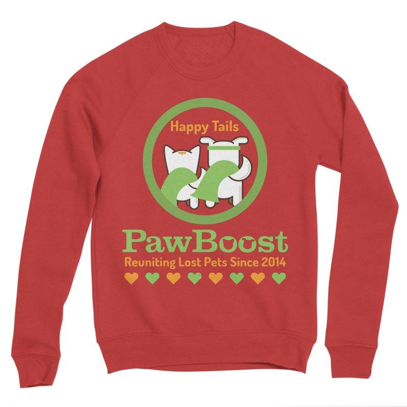Happy Tails Men's Sponge Fleece Sweatshirt by PawBoost's Shop