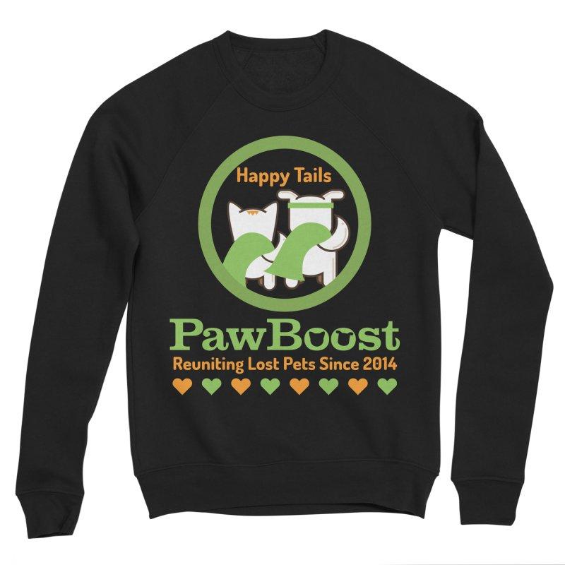 Happy Tails Women's Sponge Fleece Sweatshirt by PawBoost's Shop