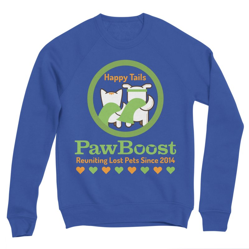 Happy Tails Women's Sponge Fleece Sweatshirt by PawBoost's Shop