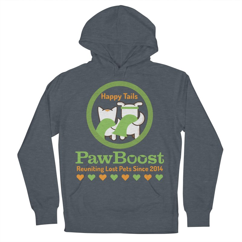 Happy Tails Men's French Terry Pullover Hoody by PawBoost's Shop
