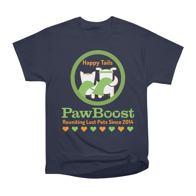 Happy Tails Women's Heavyweight Unisex T-Shirt by PawBoost's Shop