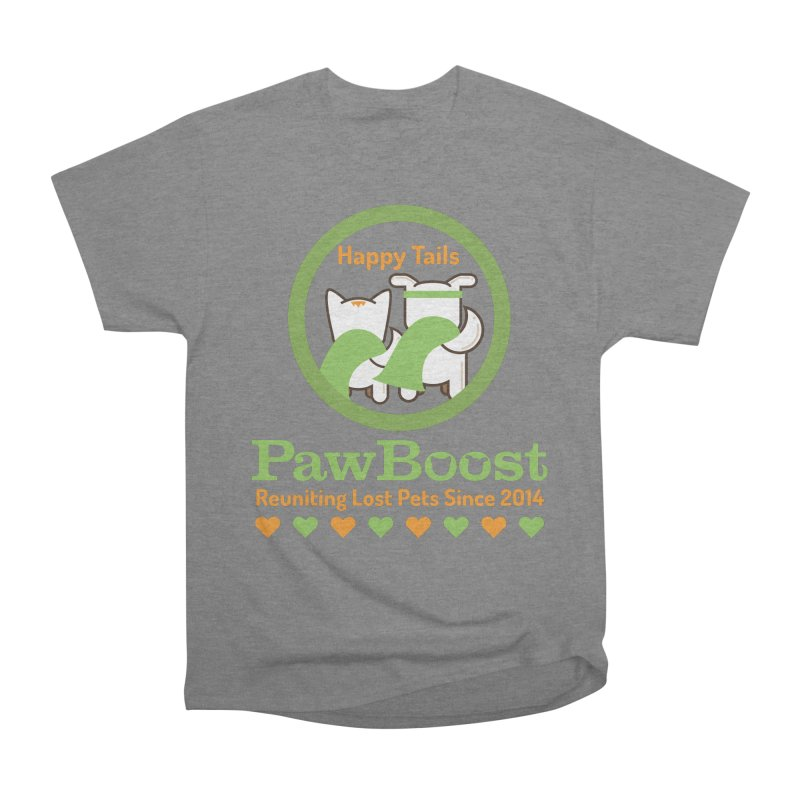 Happy Tails Men's Heavyweight T-Shirt by PawBoost's Shop