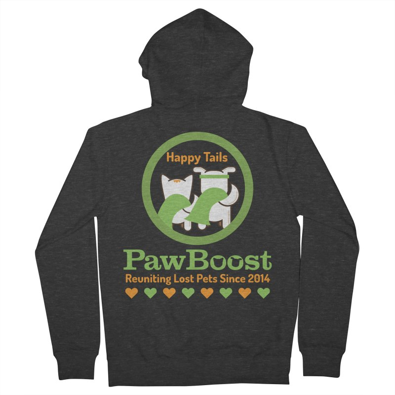 Happy Tails Women's French Terry Zip-Up Hoody by PawBoost's Shop