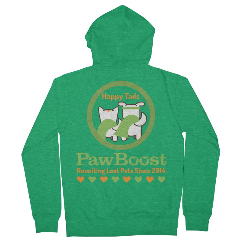 Happy Tails Men's Zip-Up Hoody by PawBoost's Shop