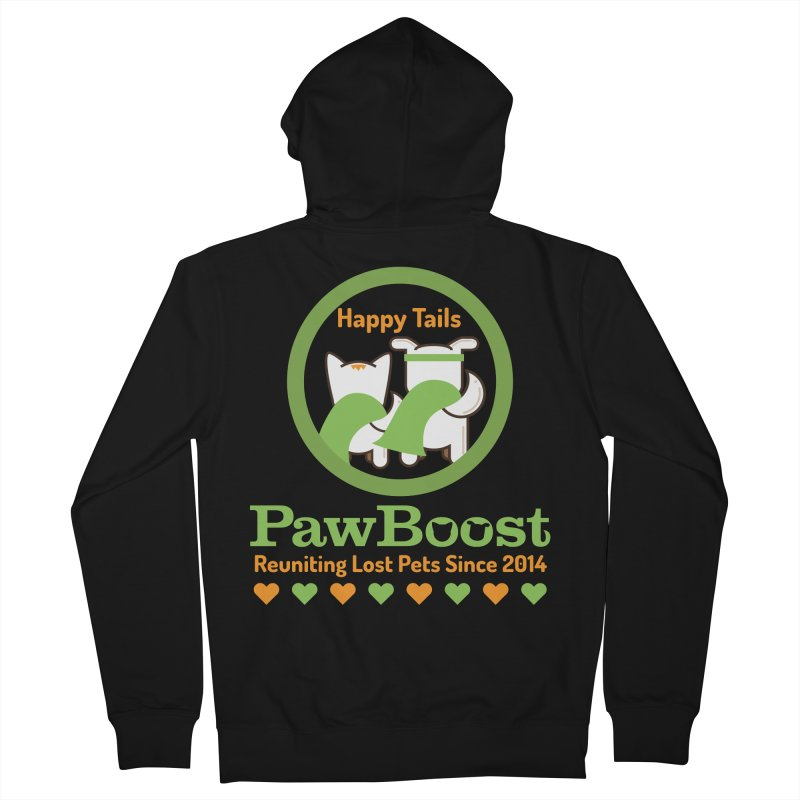 Happy Tails Men's French Terry Zip-Up Hoody by PawBoost's Shop
