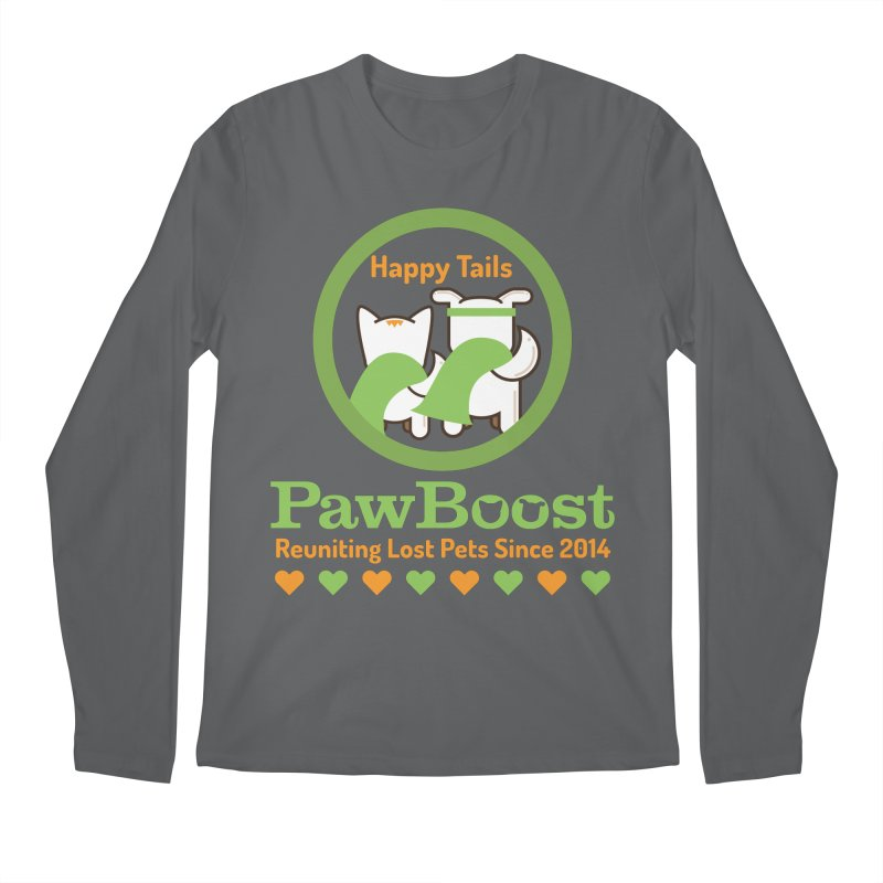 Happy Tails Men's Longsleeve T-Shirt by PawBoost's Shop