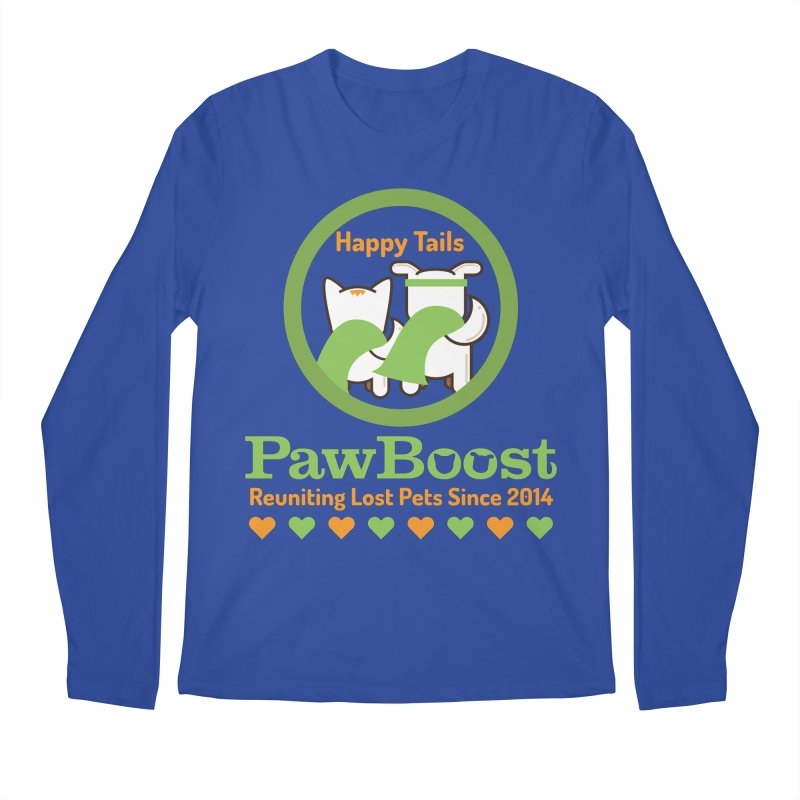 Happy Tails Men's Regular Longsleeve T-Shirt by PawBoost's Shop