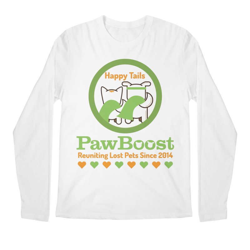 Happy Tails Men's Regular Longsleeve T-Shirt by PawBoost's Shop