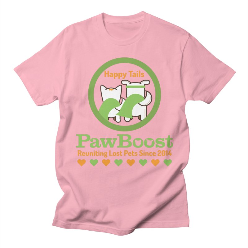 Happy Tails Women's Regular Unisex T-Shirt by PawBoost's Shop