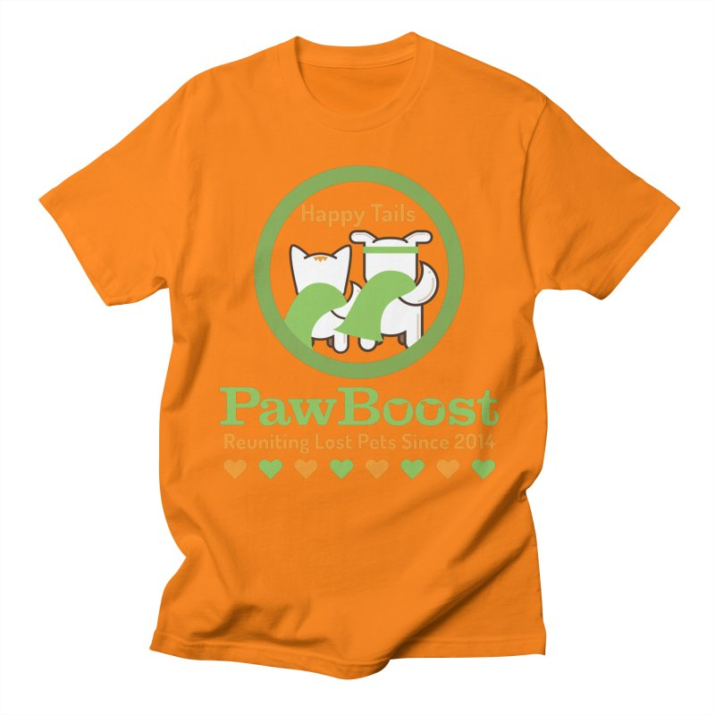 Happy Tails Women's Regular Unisex T-Shirt by PawBoost's Shop