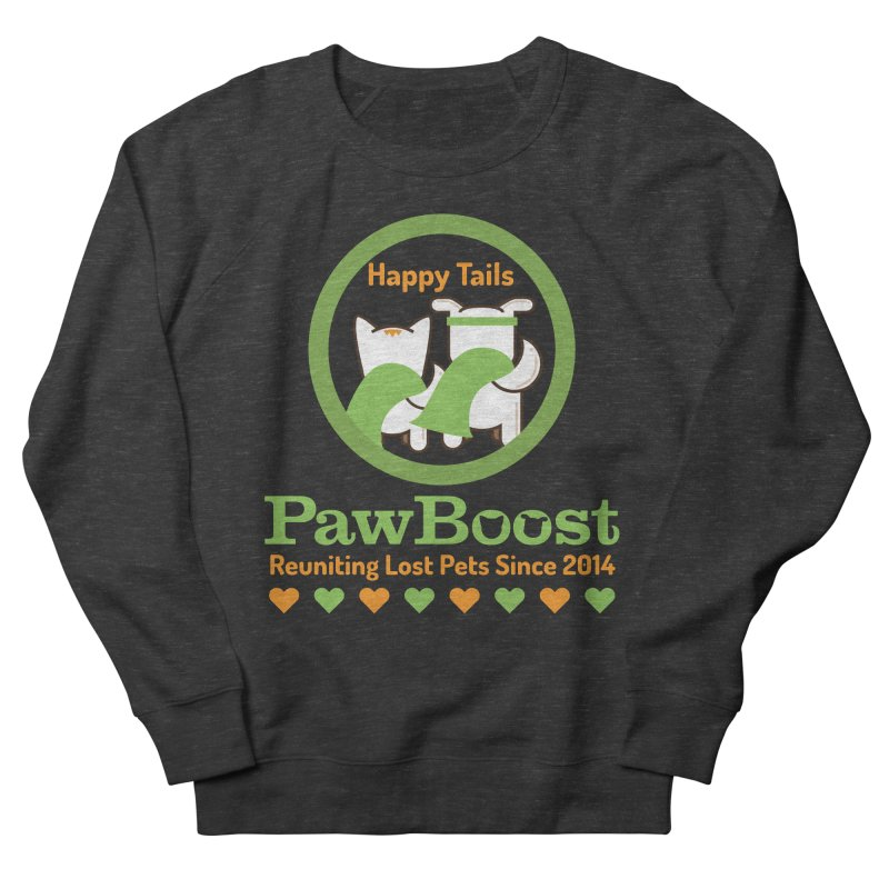 Happy Tails Women's French Terry Sweatshirt by PawBoost's Shop