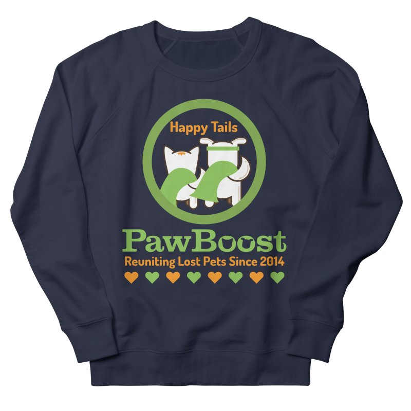 Happy Tails Men's French Terry Sweatshirt by PawBoost's Shop