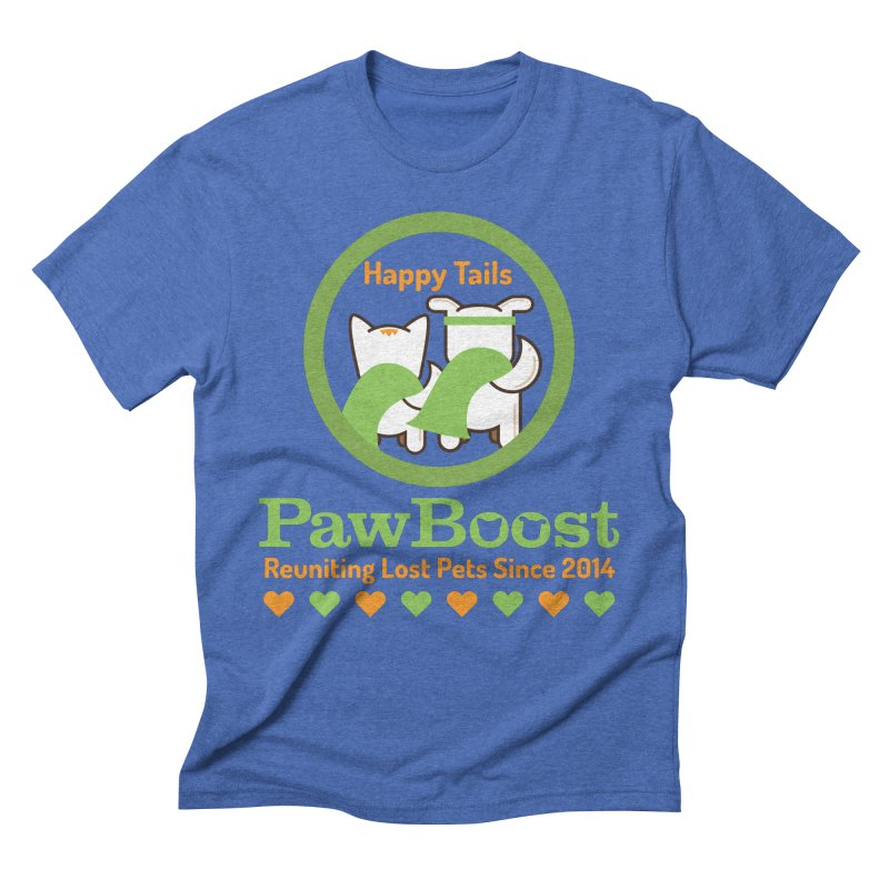 Happy Tails Men's T-Shirt by PawBoost's Shop