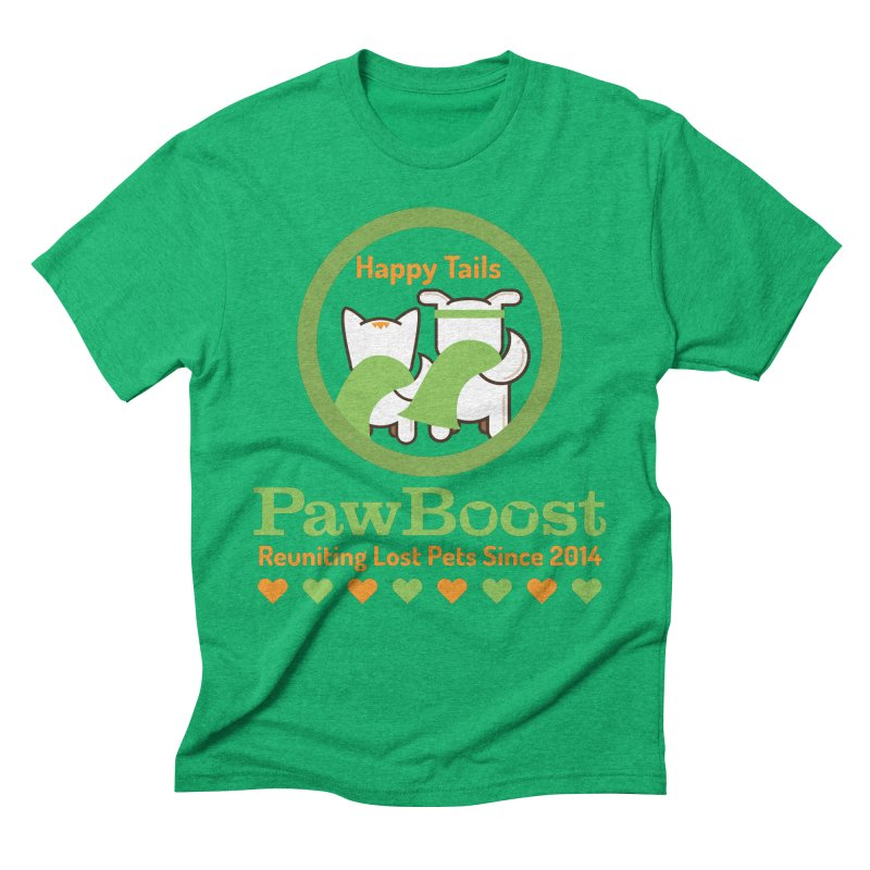 Happy Tails Men's Triblend T-Shirt by PawBoost's Shop