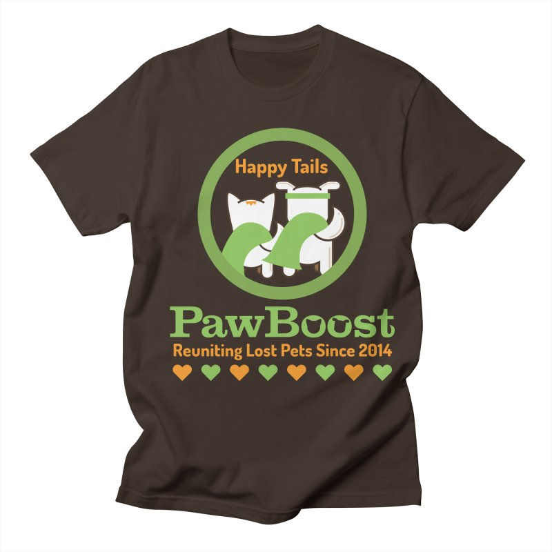 Happy Tails Men's Regular T-Shirt by PawBoost's Shop