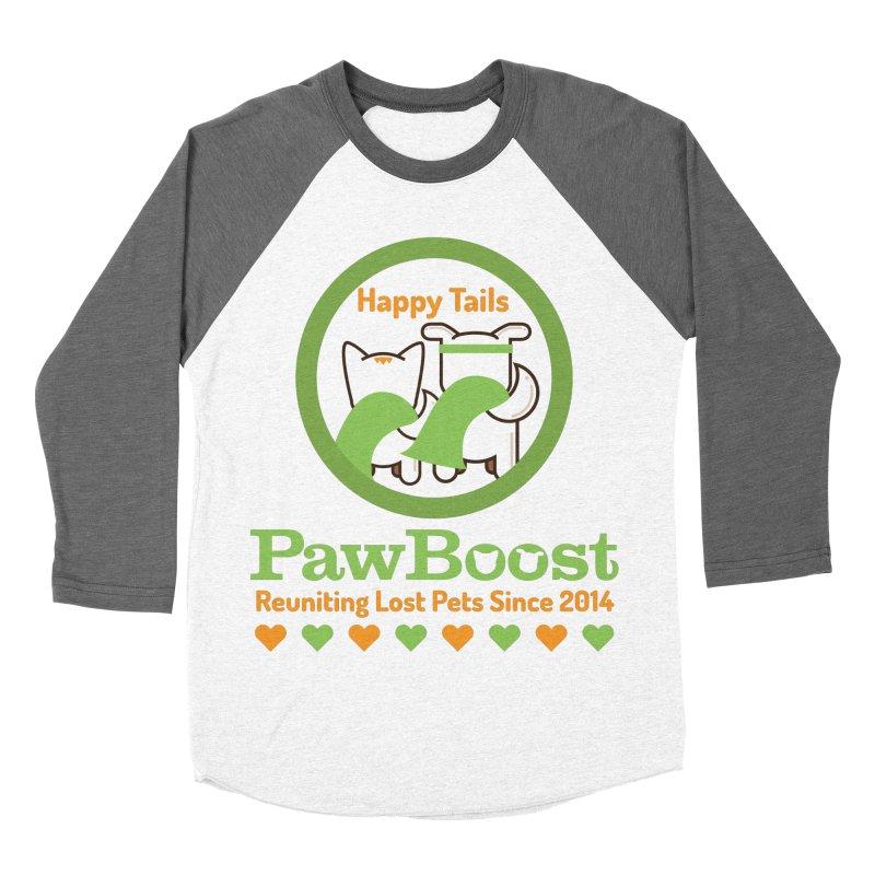 Happy Tails Women's Baseball Triblend Longsleeve T-Shirt by PawBoost's Shop