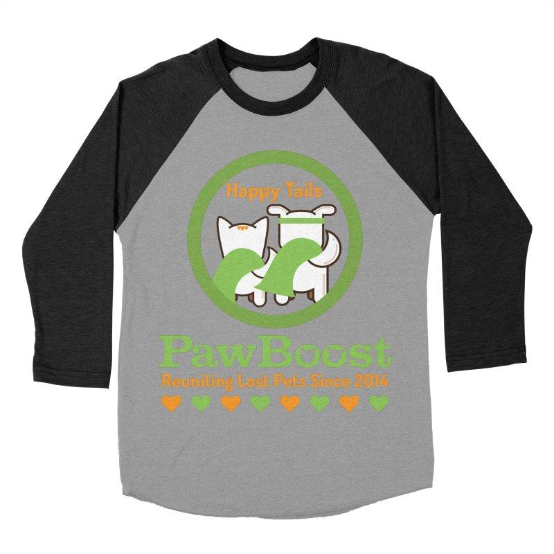 Happy Tails Men's Baseball Triblend Longsleeve T-Shirt by PawBoost's Shop