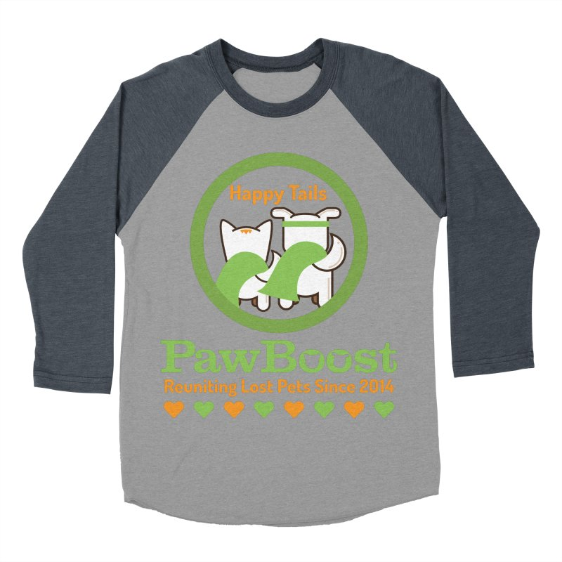 Happy Tails Men's Baseball Triblend Longsleeve T-Shirt by PawBoost's Shop