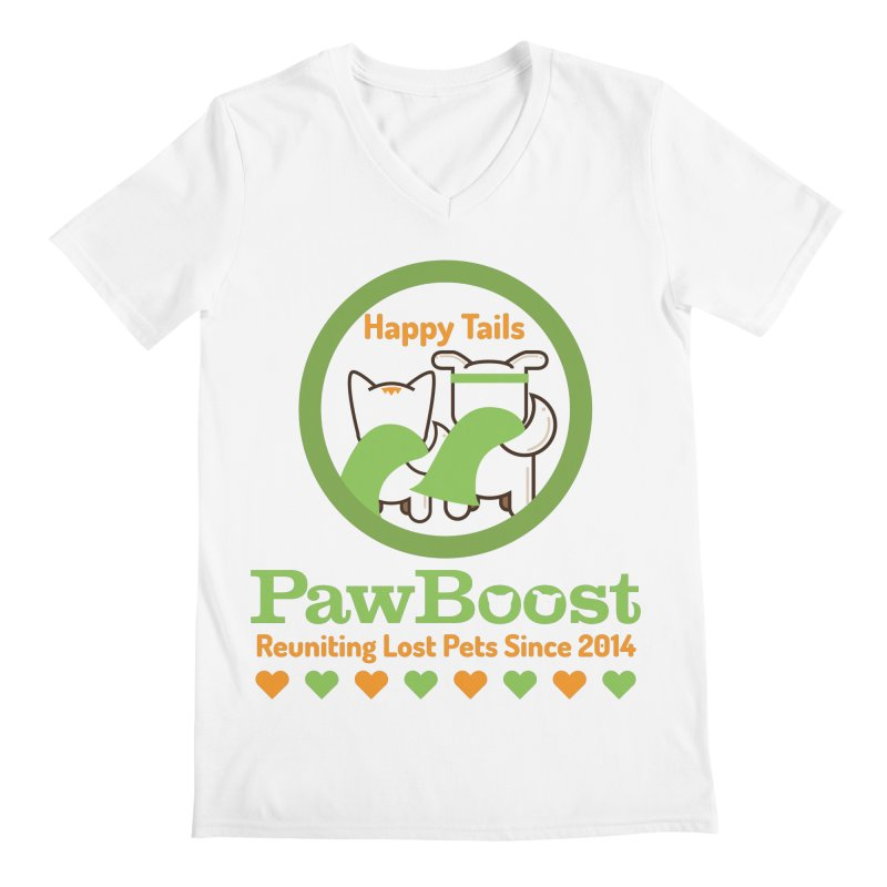 Happy Tails Men's V-Neck by PawBoost's Shop