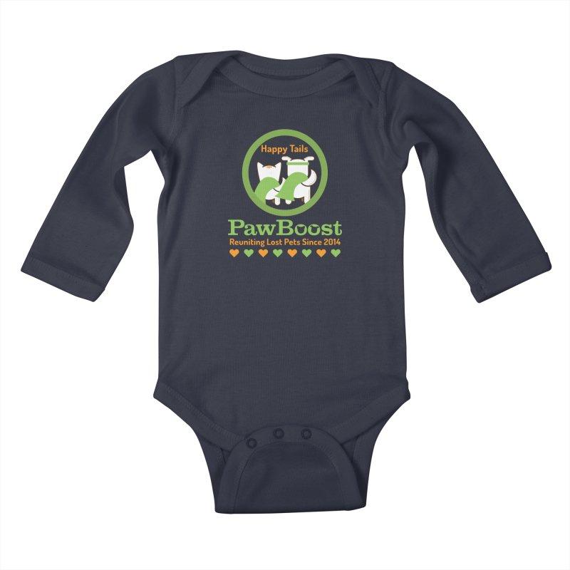 Happy Tails Kids Baby Longsleeve Bodysuit by PawBoost's Shop