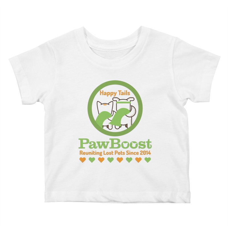 Happy Tails Kids Baby T-Shirt by PawBoost's Shop