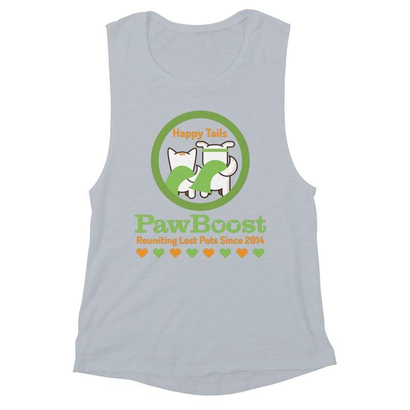 Happy Tails Women's Muscle Tank by PawBoost's Shop