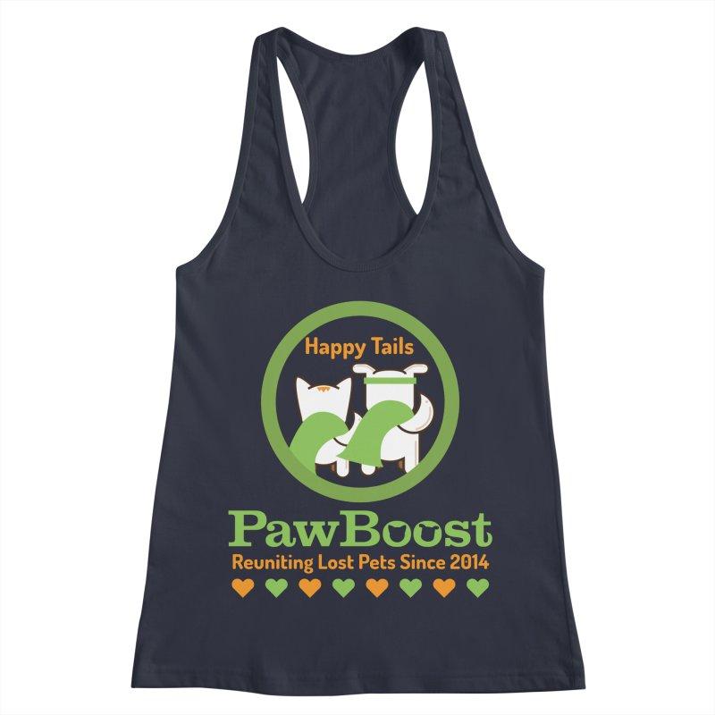 Happy Tails Women's Racerback Tank by PawBoost's Shop