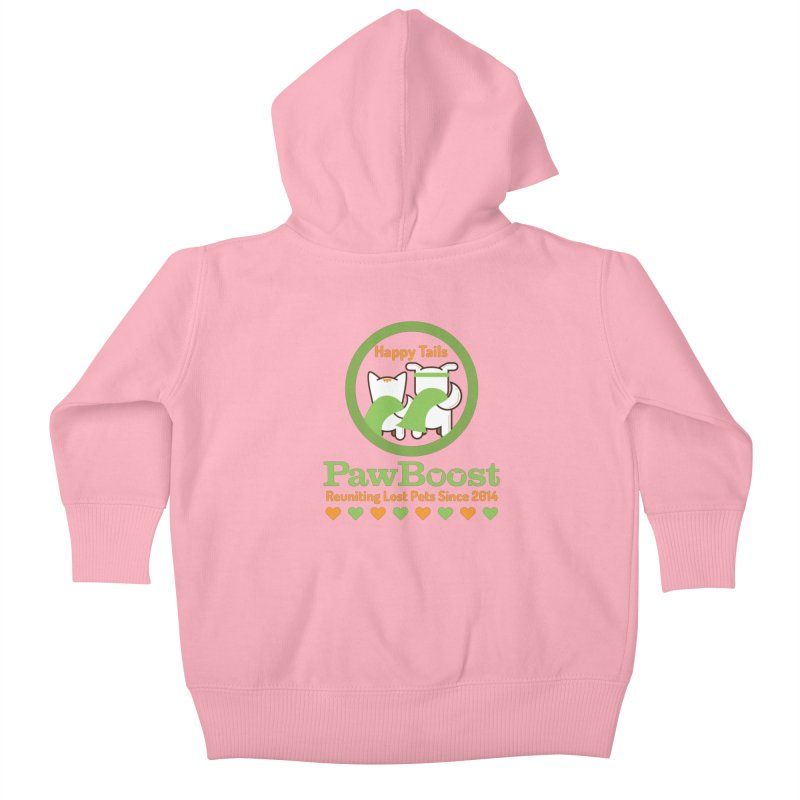 Happy Tails Kids Baby Zip-Up Hoody by PawBoost's Shop