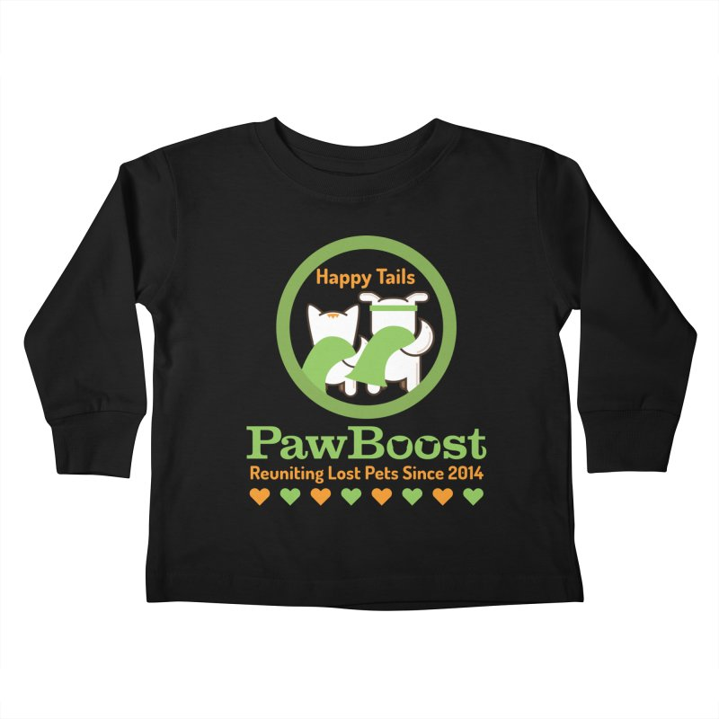 Happy Tails Kids Toddler Longsleeve T-Shirt by PawBoost's Shop