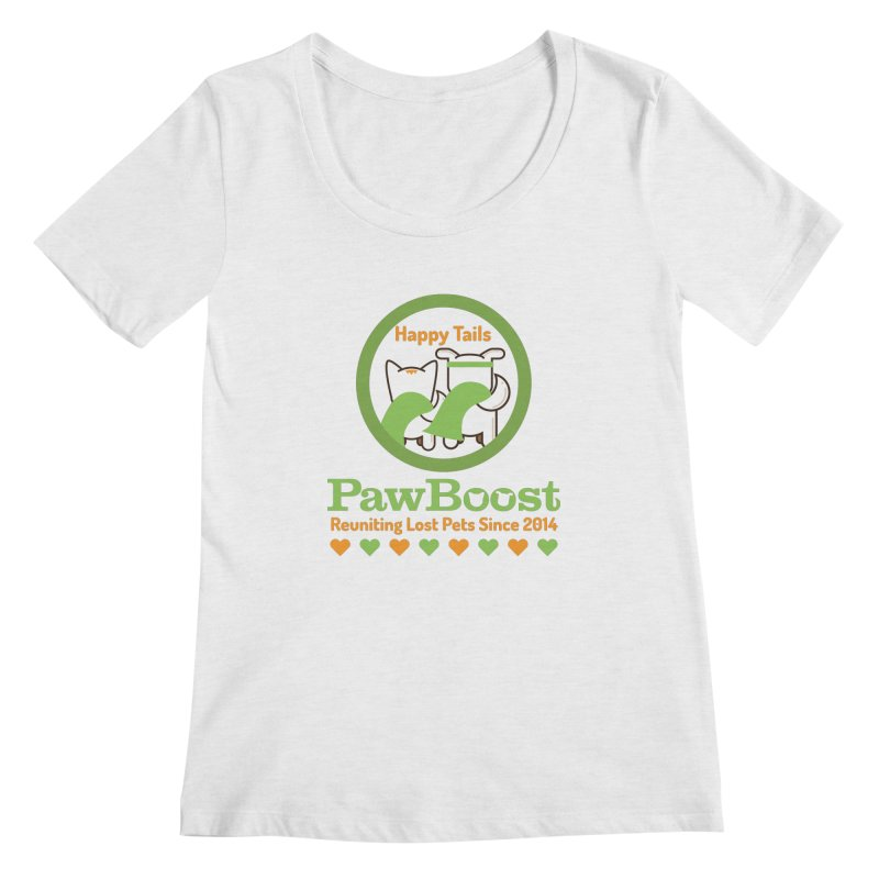 Happy Tails Women's Regular Scoop Neck by PawBoost's Shop