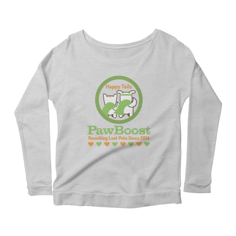 Happy Tails Women's Scoop Neck Longsleeve T-Shirt by PawBoost's Shop