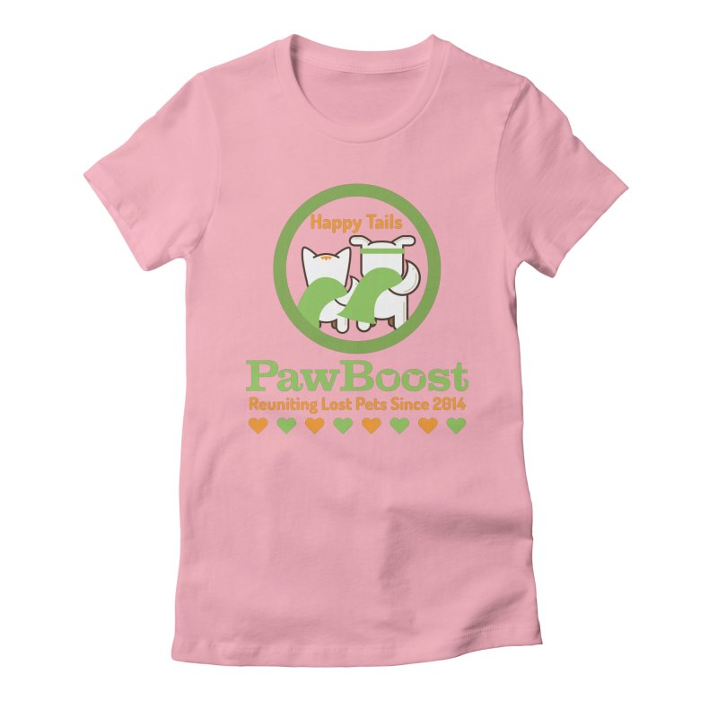 Happy Tails Women's Fitted T-Shirt by PawBoost's Shop