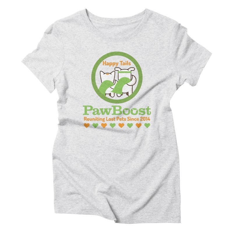 Happy Tails Women's Triblend T-Shirt by PawBoost's Shop