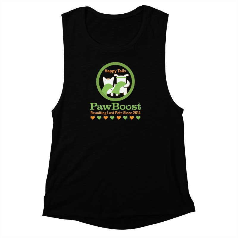 Happy Tails Women's Muscle Tank by PawBoost's Shop