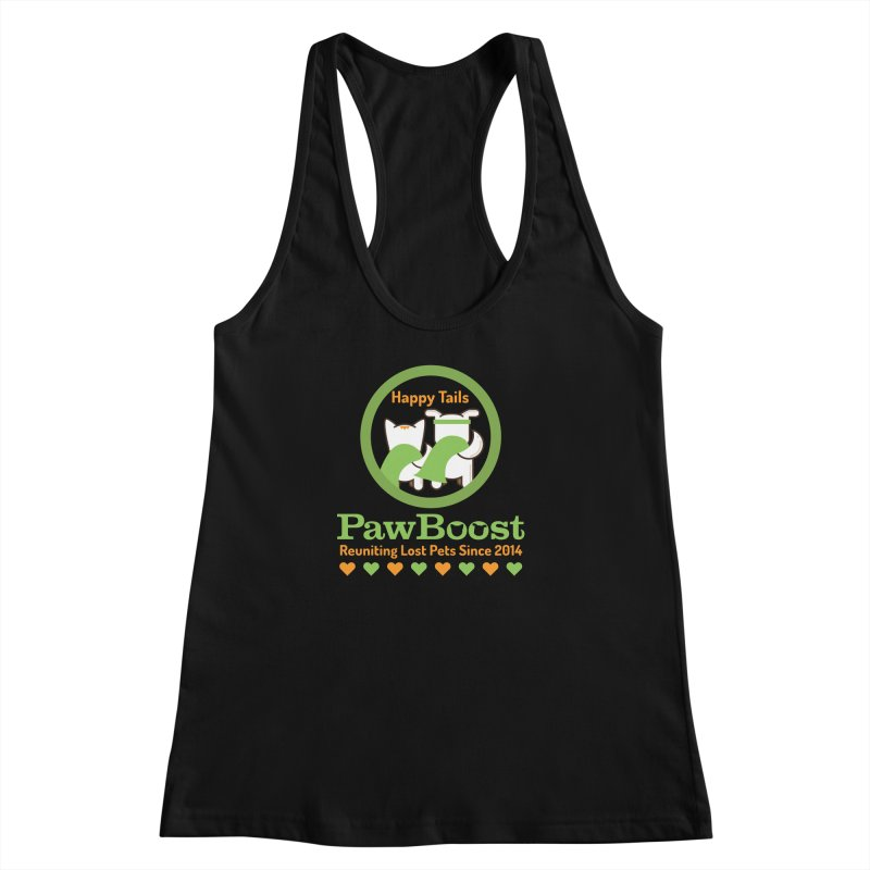 Happy Tails Women's Racerback Tank by PawBoost's Shop