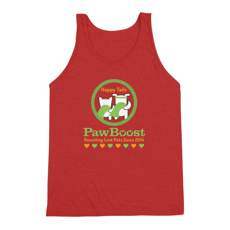 Happy Tails Men's Triblend Tank by PawBoost's Shop