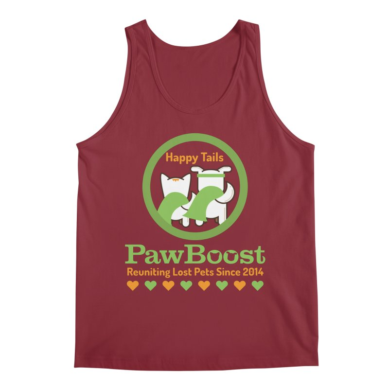 Happy Tails Men's Regular Tank by PawBoost's Shop
