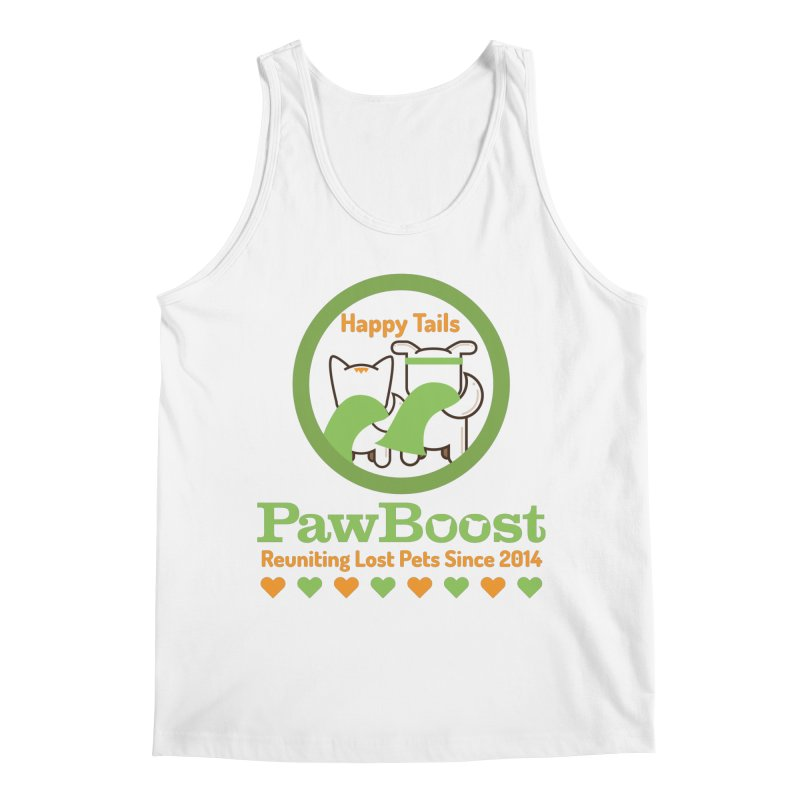 Happy Tails Men's Regular Tank by PawBoost's Shop