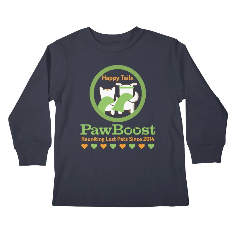 Happy Tails Kids Longsleeve T-Shirt by PawBoost's Shop