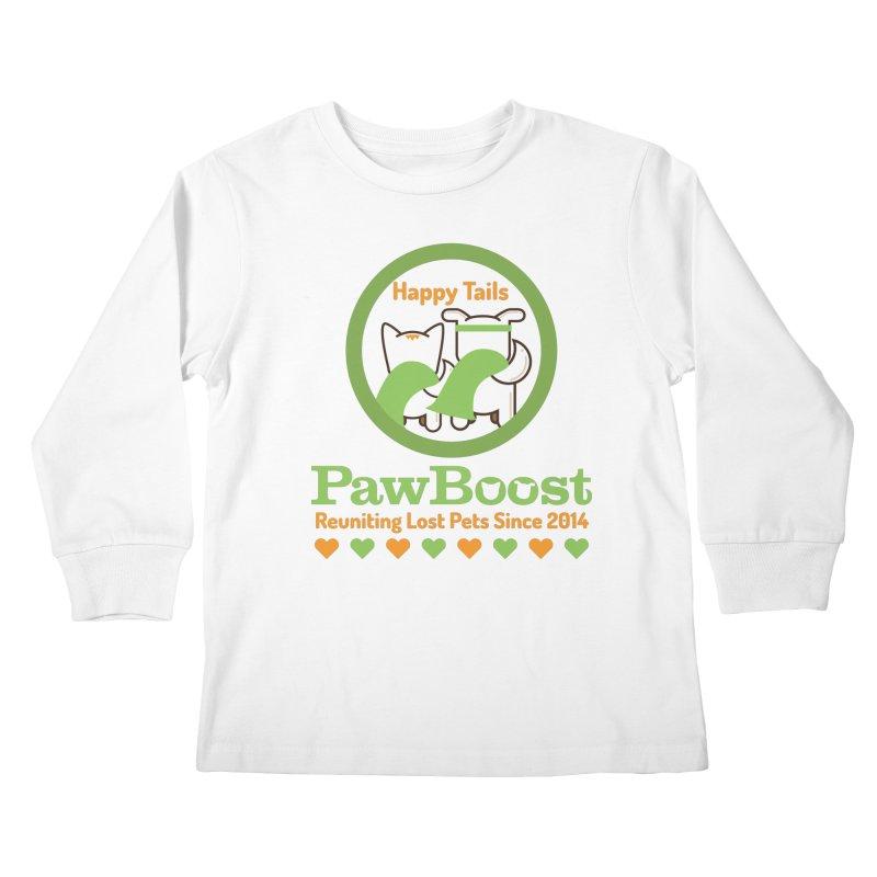 Happy Tails Kids Longsleeve T-Shirt by PawBoost's Shop