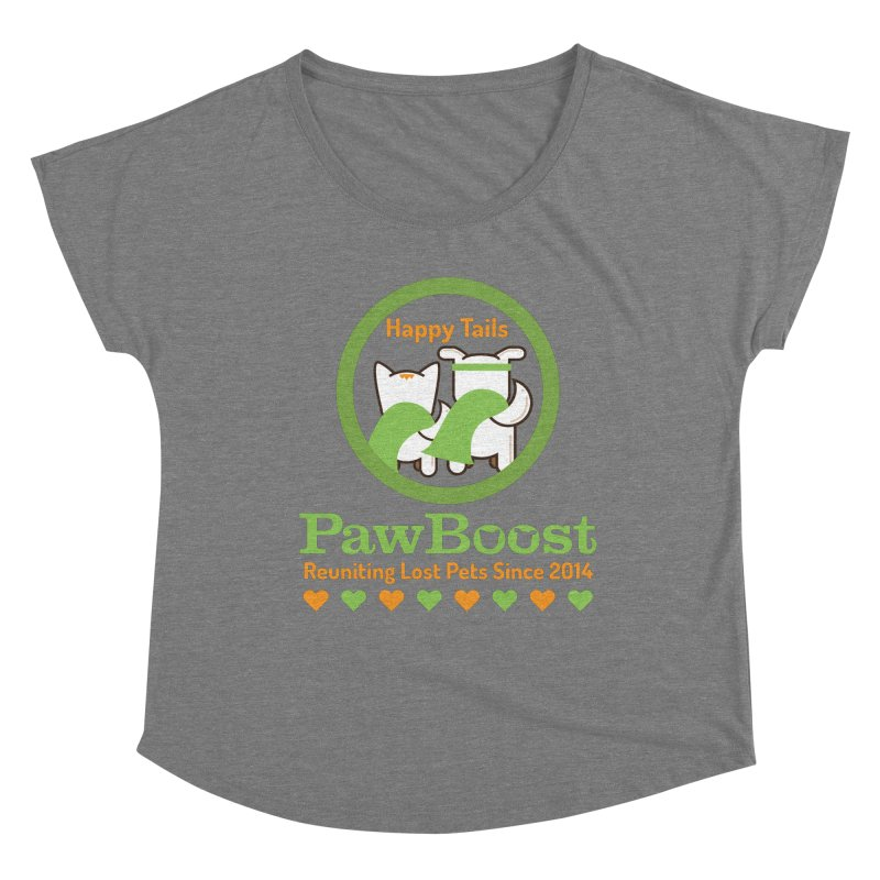 Happy Tails Women's Scoop Neck by PawBoost's Shop