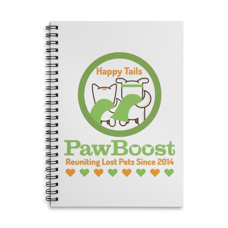 Happy Tails Accessories Lined Spiral Notebook by PawBoost's Shop
