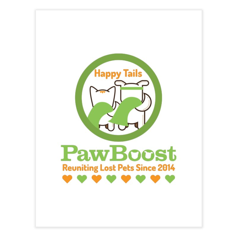 Happy Tails Home Fine Art Print by PawBoost's Shop